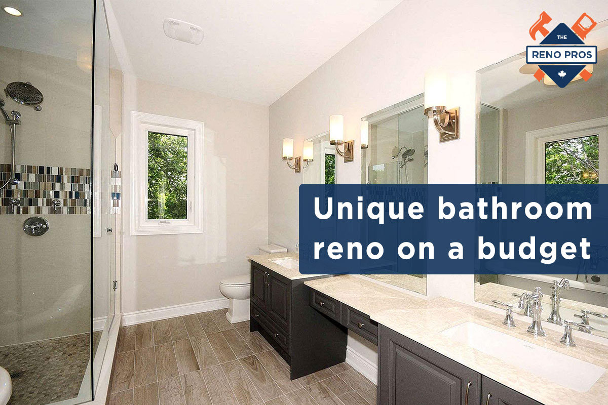 unique bathroom renovations on a budget the reno pros